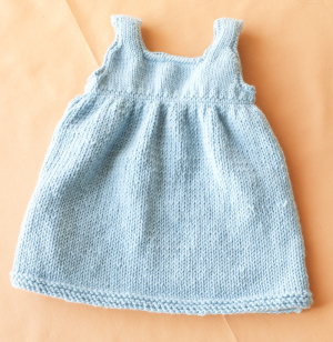 Knitting Projects: Knitted Baby Sweater Dress
