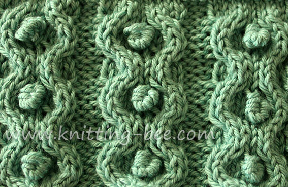Stitch Of The Week Circle And Bobble Knit Stitch