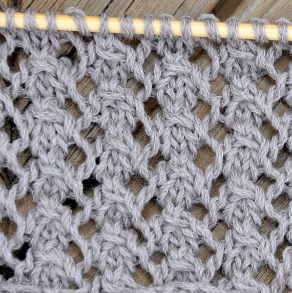 Different Lace Knitting Stitches : Stitch of the Week:Dog Rose Stitch