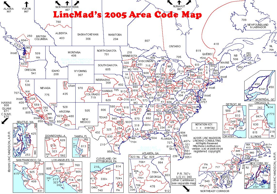 Yarn Store And Yarn Shop Directory Listing - Area codes usa map